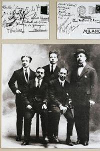 Aldo Palazzeschi, il primo a sinistra