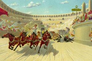 Corsa delle bighe ai tempi dell'antica Roma