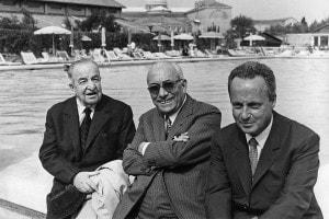 Arnoldo Mondadori, Aldo Palazzeschi e Giorgio Bassani. Venezia, 1968