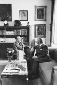 Arnoldo Mondadori e Aldo Palazzeschi. Roma, 1957