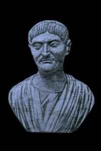 Busto di Gaio Sallustio Crispo (86-35 a.C.): storico romano, politico e novus homo di una famiglia dell'antica nobiltà provinciale