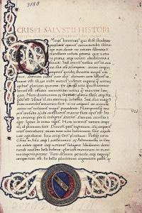 Manoscritto. De Catilinae coniuratione di Sallustio