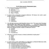 Test Veterinaria 2020: domande di cultura generale