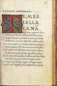 Poesie di Albio Tibullo. Manoscritto miniato del XV secolo