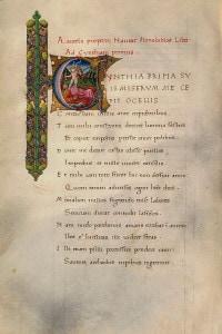 Primo Libro delle Elegie di Properzio. Manoscritto