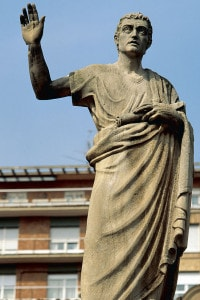 Statua di Quintiliano a Calahorra, città natale dell'oratore romano