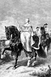 L'imperatrice Maria Teresa d'Austria a cavallo