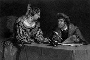 L'imperatrice Maria Teresa d'Austria e il ministro austriaco Von Kaunitz