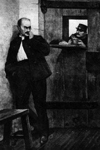 Alfred Dreyfus in prigione sull'Isola del Diavolo