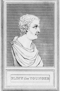 Plinio il Giovane. Busto dello scrittore e magistrato romano