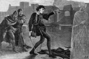 Una scena dell'Amleto di Shakespeare