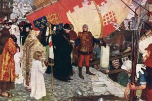 La partenza di Giovanni e Sebastiano Caboto da Bristol, 1497