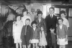 Una famiglia di immigrati irlandesi a New York City, 12 dicembre 1929