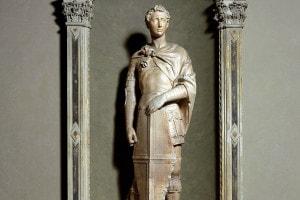 Statua di San Giorgio di Donatello. Museo Nazionale del Bargello