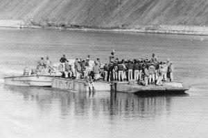 Guerra del Kippur. Soldati egiziani sul Canale di Suez, ottobre 1973