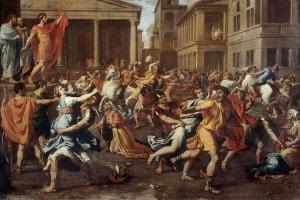 Ratto delle sabine, dipinto di Nicolas Poussin