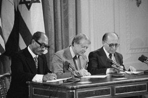 Accordi di Camp David. Sadat, Carter e Begin