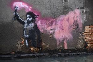 Acqua alta a Venezia, Banksy