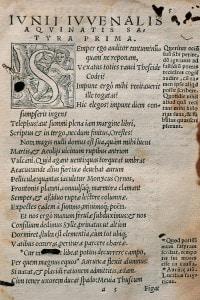 Inizio della prima satira di Giovenale