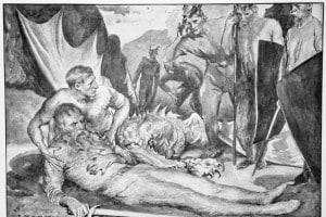 Un particolare della morte di Beowulf