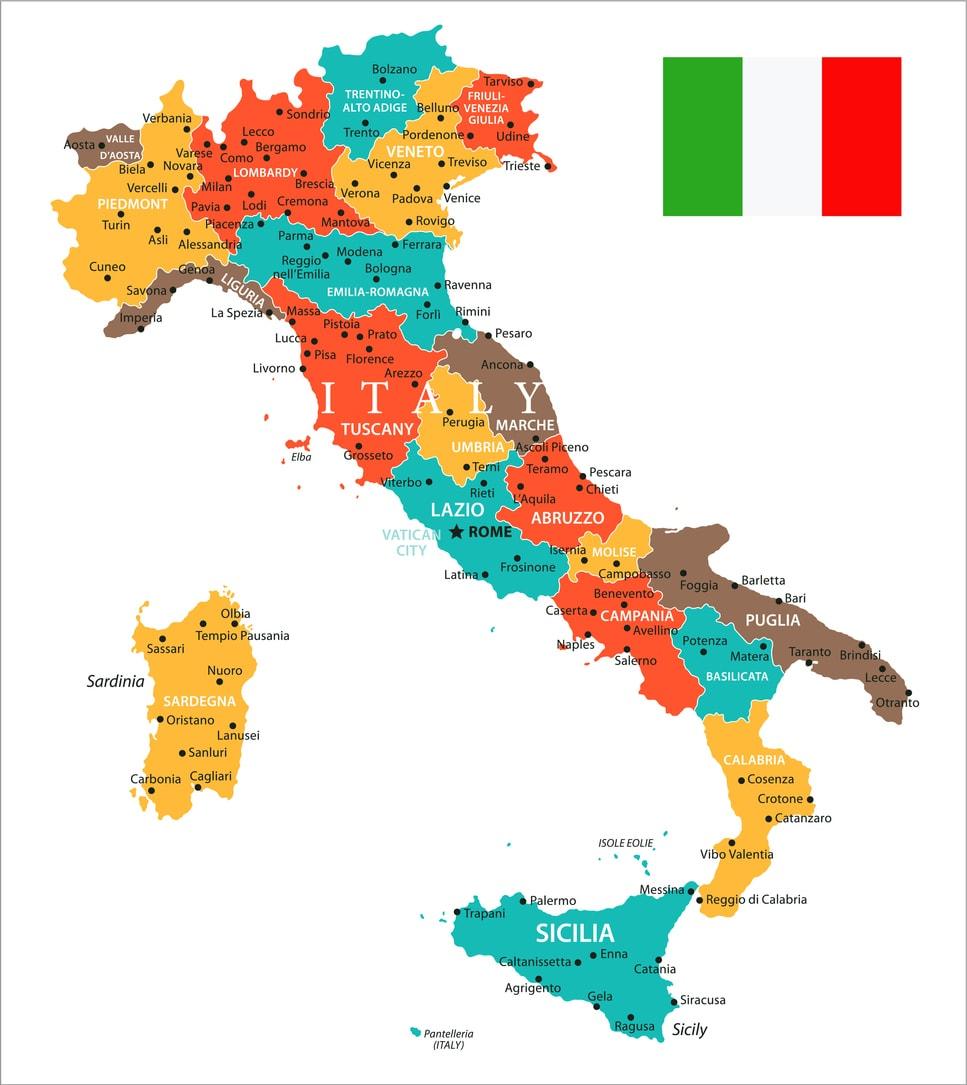 Cartina Dellitalia In Scala.Italia Politica Significato Della Carta Politica Studenti It