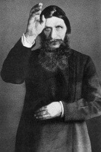 Rasputin (1872-1916). Consigliere spirituale e mistico russo dei Romanov e figura influente alla corte dello zar Nicola II