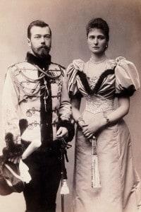 Nicola II e sua moglie Aleksandra Romanova