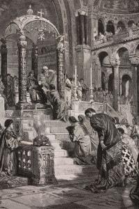 Teodorico riceve l'investitura dall'imperatore Zenone