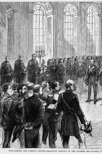 Proclamazione dell'Impero tedesco. Incoronazione di Guglielmo I come imperatore di Germania, 1871