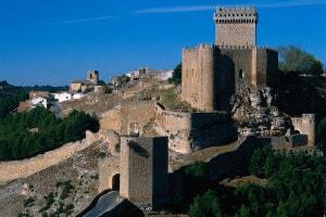 Castiglia-La Mancia, vista del castello medievale fatto costruire da Alfonso VIII