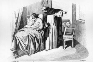 Girolamo Savonarola nega l'assoluzione a Lorenzo de Medici, 1492
