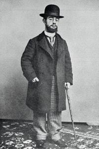 Ritratto del pittore francese Toulouse-Lautrec (1864-1901)