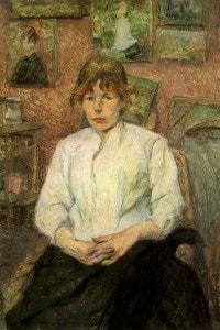 Ritratto di Carmen Gaudin, 1887. Toulouse-Lautrec