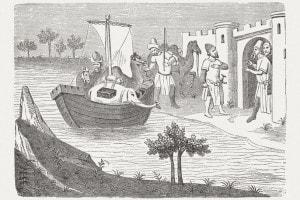 Arrivo di Marco Polo a Hormuz