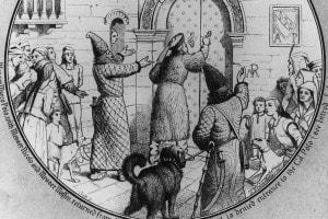I viaggiatori Marco Polo, il padre Nicolò e lo zio Matteo rientrano a Venezia dopo 24 anni in Oriente, 1295