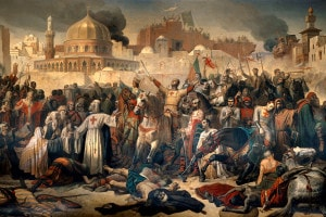 Conquista di Gerusalemme da parte dei crociati di Émile Signol