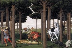 Nastagio degli onesti, secondo episodio di Botticelli