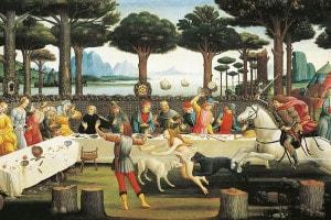Nastagio degli onesti, terzo episodio di Botticelli