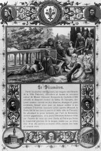 Illustrazione del Decameron, 1348