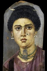 Ritratto a Fayum. Esempio di pittura romana
