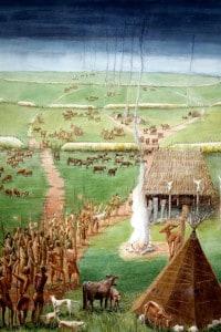 Villaggio neolitico: Windmill Hill, Avebury, Wiltshire