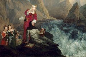 Laura e Petrarca alla Fontana del Vaucluse