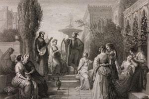 Un'immagine dal Decameron di Boccaccio