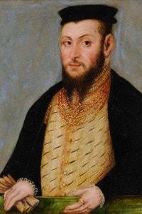 Ritratto di Sigismondo II Augusto (1520-1572), re di Polonia, 1565 circa. Collezione del Museo Czartoryski, Cracovia.