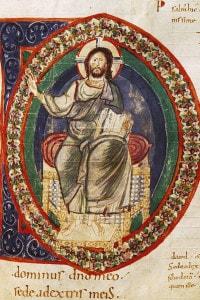 Miniatura di Cristo in trono