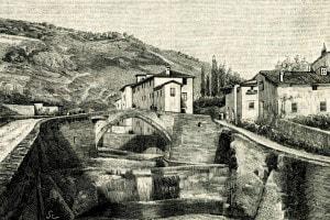 Xilografia del Fiume Mugnone, Toscana.