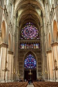 Interno della cattedrale di Reims
