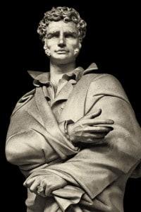 Monumento a Ugo Foscolo. Statua realizzata da Antonio Berti, Firenze, 1938