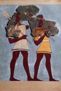 Guerrieri. Frammenti di affreschi dal palazzo di Tirinto, 1350 a.C.