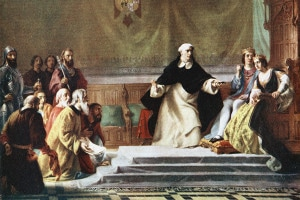 Espulsione degli ebrei dalla Spagna, 1492. Isabella di Castiglia e Ferdinando d'Aragona